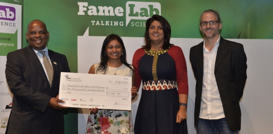 Sheetal Silal, runner up at Famelab SA